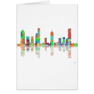Melbourne Vic Skyline Card