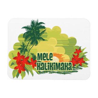 Mele Kalikimaka Tropical Island Magnets
