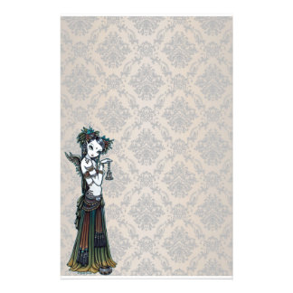 """Melita"" Goth Tribal Fusion Dancer Art Stationery"