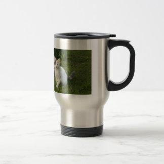 Mélofée, small white fairy 15 oz stainless steel travel mug