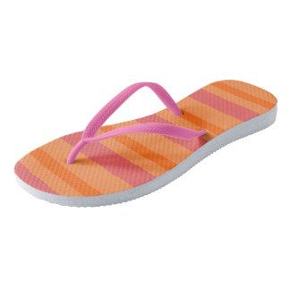 Melon monochromatic stripe pattern STRIPE09 Thongs