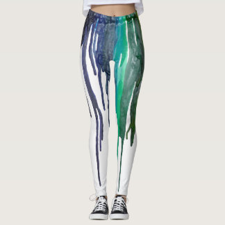 Melted Colorful Crayon Leggings