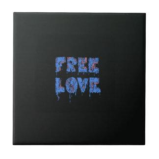 Melting free love graffiti style small square tile