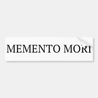 Memento Mori Bumper Sticker
