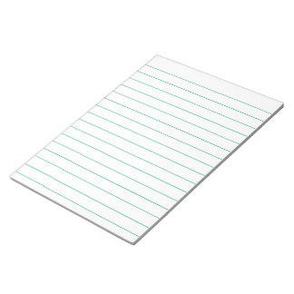 Memo Pad with Lines Business Lined Green Vintage