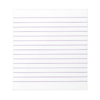 Memo Pad with Lines Business Lined Violet Classic
