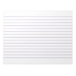 Memo Pad with Lines Business Lined Violet Vintage