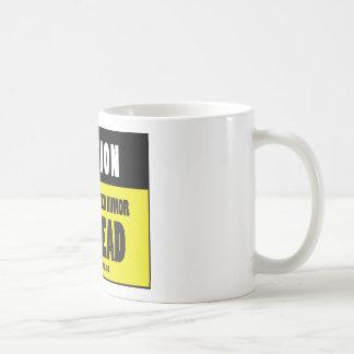 MEMOIRS OF A GYM RAT - CAUTION coffee mug