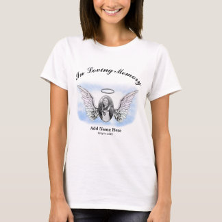 Memorial | Add Photo Angel Wings T-Shirt