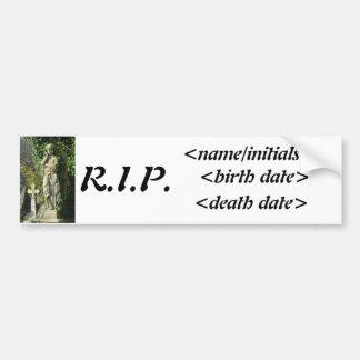 Memorial Bumper Sticker