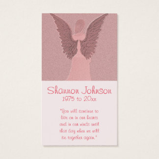 Memorial Card | Pink Angel