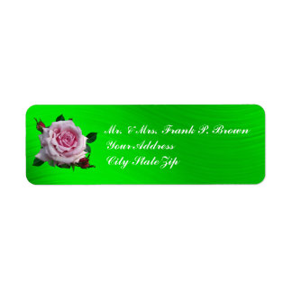 MEMORIAL DAY ROSE- RETURN ADDRESS LABELS