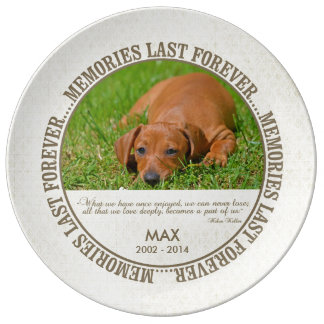 Memorial - Loss of Pet - Custom Photo/Name Porcelain Plates