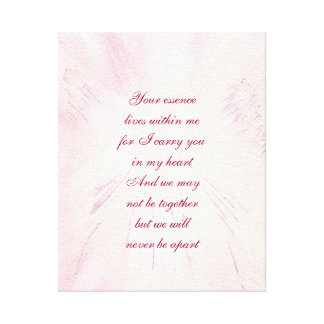 Memorial Poem Canvas Print