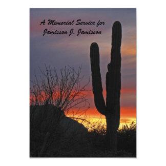 Memorial Service Invitation, cactus at Sunset Card
