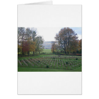 Memories from Flanders - War Graves, WWI Card