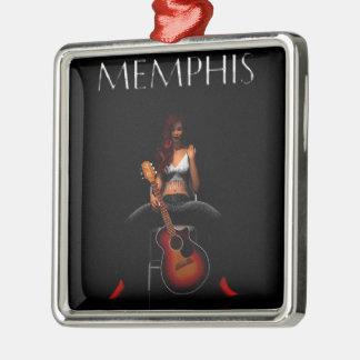MEMPHIS :: Black Velvet Christmas Ornament