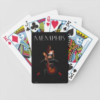'MEMPHIS::Black Velvet' playing cards