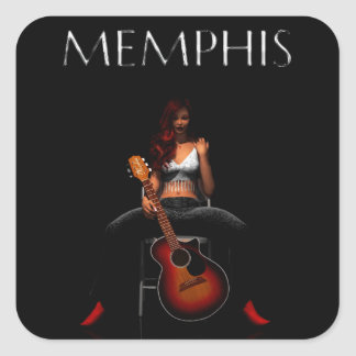 MEMPHIS :: Black Velvet Square Sticker