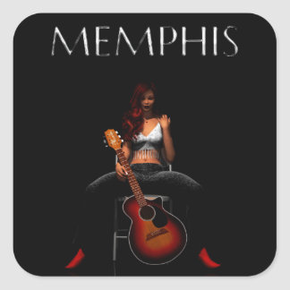 'MEMPHIS::Black Velvet' sticker