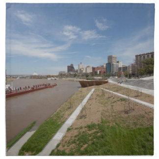 Memphis City Skyline Napkin