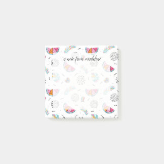 Memphis Style Tropical Summer Pattern Post-it Notes
