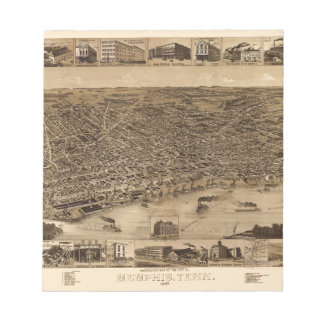 Memphis Tennessee 1887 Notepad