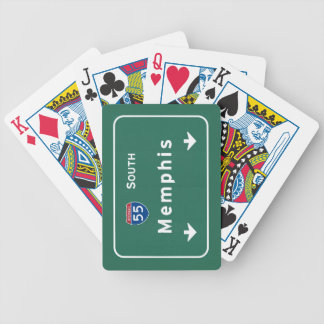 Memphis Tennessee tn Interstate Highway Freeway : Bicycle Playing Cards