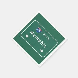 Memphis Tennessee tn Interstate Highway Freeway : Disposable Serviette