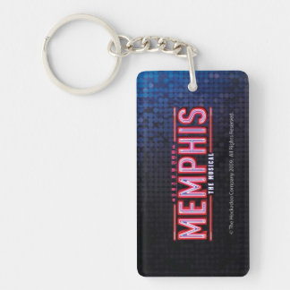 MEMPHIS - The Musical Logo Single-Sided Rectangular Acrylic Key Ring