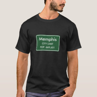 Memphis, TN City Limits Sign T-Shirt