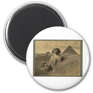 Men and Camels on the Paw of the Sphinx, Pyramids Magnet