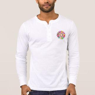 Men s Canvas Henley Long Sleeve Shirt SUN CHAKRA