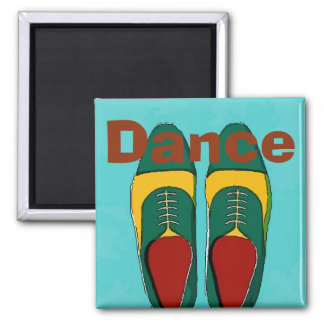 Men Shoes, Dance, Change Text Square Magnet