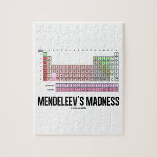Chemistry element periodic table jigsaw puzzles zazzle mendeleevs madness periodic table of elements jigsaw puzzle urtaz Image collections