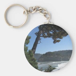 Mendocino, California Basic Round Button Key Ring