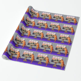 menorah cat.jpg wrapping paper