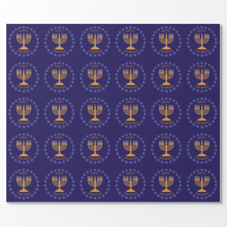 menorah wreath wrap wrapping paper