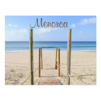 Menorca Boardwalk to the Beach Postcard