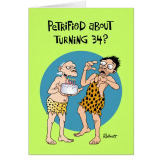 Men's 34th Birthday Card