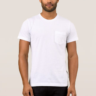 Men's  Apparel Pocket T-Shirt, WHITE template T-Shirt