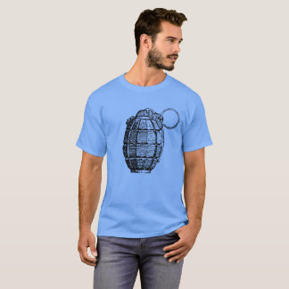 Men's Basic Dark T-Shirt Hand Grenade