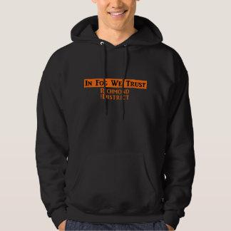 Men's Black Sweatshirt w/Orange Logo