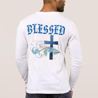 Men's Blessed Blue Cross Henley Long Sleeve Shirt