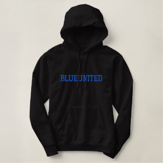 """Men's """"BLUEUNITED"""" Embroidered Pullover Hoodie"""
