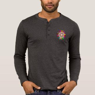 Men's Canvas Henley Long Sleeve Shirt SUN CHAKRA