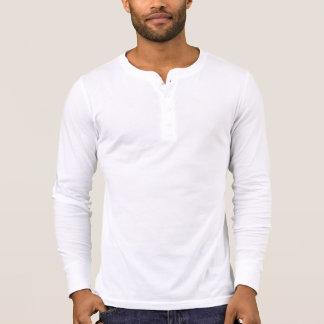 Men's Canvas Henley Long Sleeve Shirt, White T Shirts