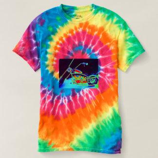 Men's custom made Tie-Dye Biker T-shirt