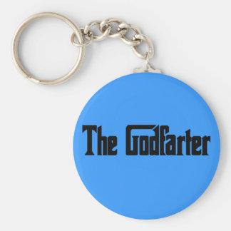 """Men's Fart Humor Gifts """"The Godfarter"""" Key Ring"""