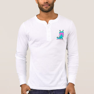 Men's Henley Long Sleeved Tee Ride With the Stache